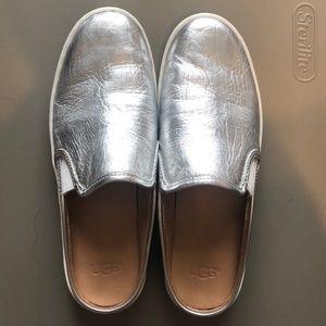 Silver Ugg Slides